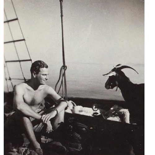...with friend. (Photo Joan Leigh Fermor, Nat'l Library of Scotland)