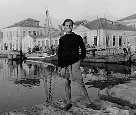 Paddy in Ithaca, 1946, photographed by Joan Rayner (Joan Leigh Fermor)