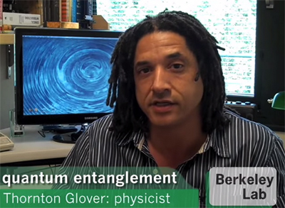 Thornton Glover explains quantum entanglement in one minute and ten seconds. Click on the link in  the text.